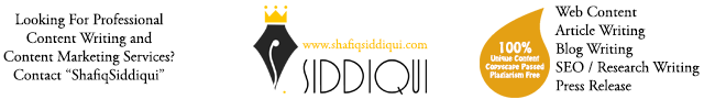 Shafiq Siddiqui is a professional blogger for multiple niches with almost 9 years of experience in inbound marketing.