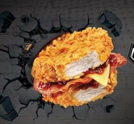 A Breadless Sandwich By KFC – Double Down Sandwich