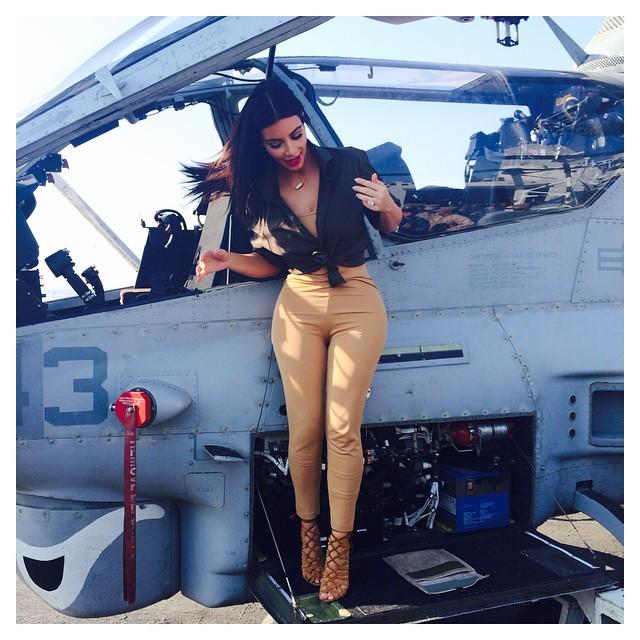 Kim Kardashian At US Army 2