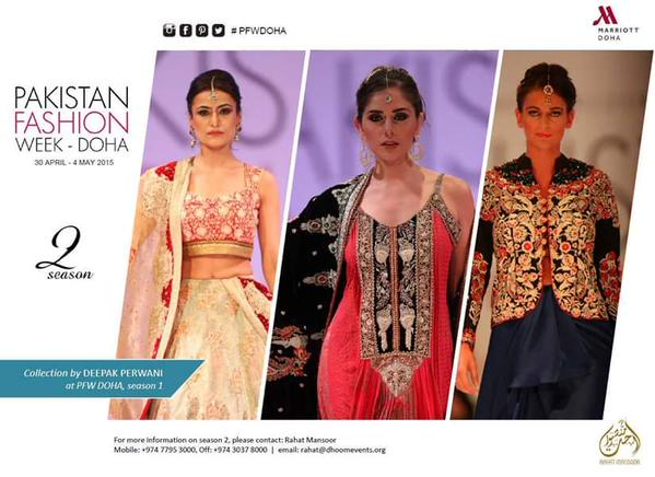 Pakistani Fashion Designers All Set to Mesmerize Doha