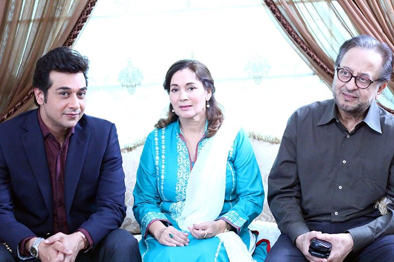 BTS - Faysal Quraishi with MOL cast
