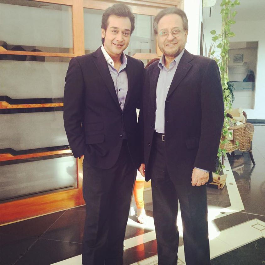 Faysal and Nadeem on set of MOL