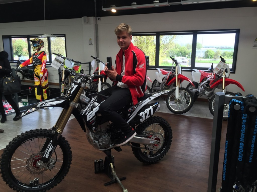 Ollie on his Chichester Honda Epic Energy, Honda CRF250R [2]