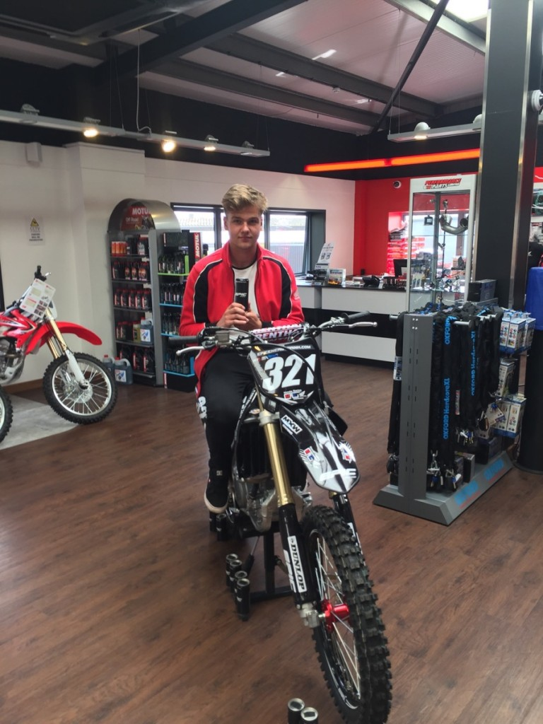 Ollie on his Chichester Honda Epic Energy, Honda CRF250R [3]