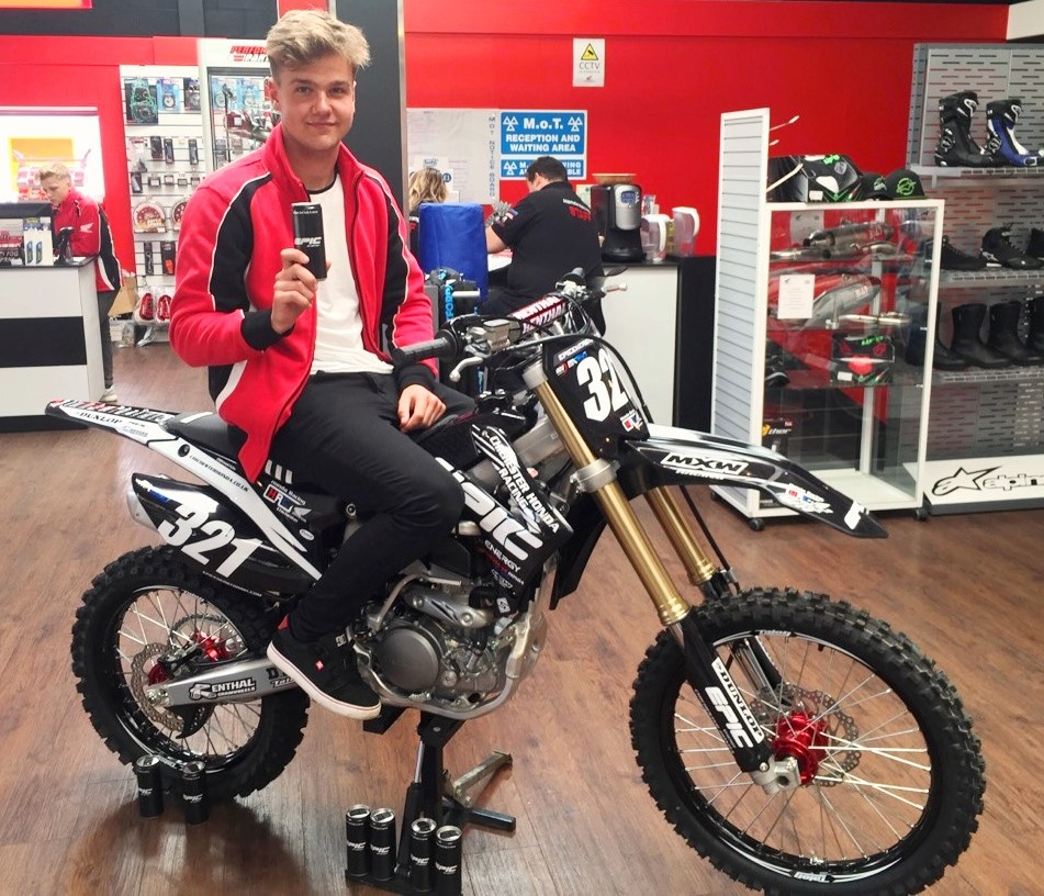 Ollie on his Chichester Honda Epic Energy, Honda CRF250R