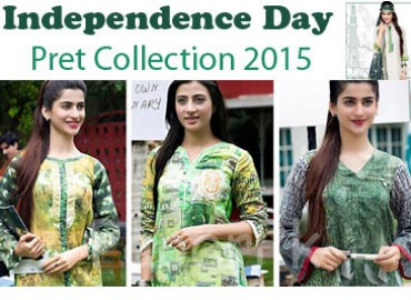 Go Green With Independence Day Pret Collection 2015