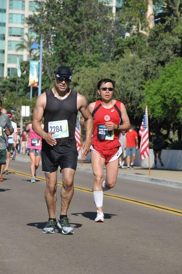 Faran Tahir running in America's Finest City Half Marathon [2]