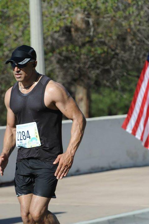 Faran Tahir running in America's Finest City Half Marathon [3]