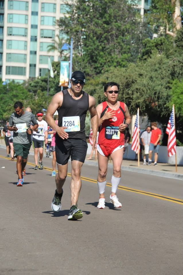 Faran Tahir running in America's Finest City Half Marathon