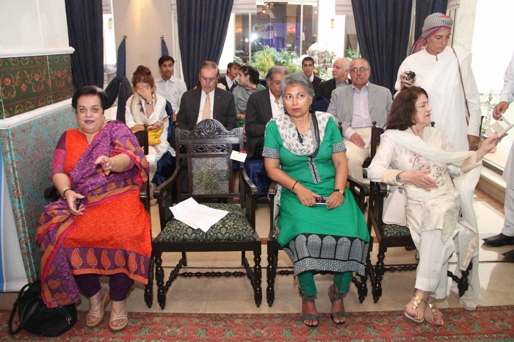 (L- R ) - Dr. Shireen Mazari, Dr. Dushka, Dr. Parveen at launch ceremony of KKAWF in Islamabad