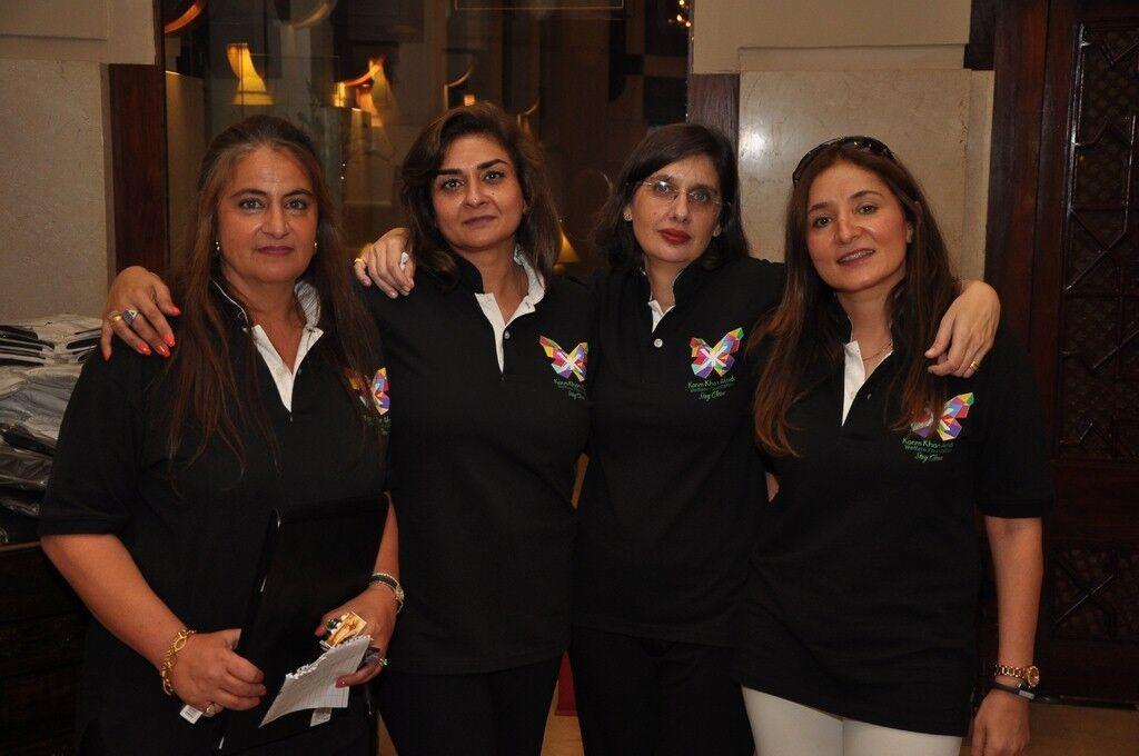 (L-R) - KKAWF Executive Members _Sophia Ali Khan, Naheed Aminuddin, Assarina Khan, Wajiha Flew