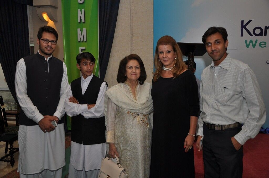 Ms. Cristina von Sperling Afridi, Dr Parveen Azam Khan & Dost foundation team at launch event of KKAWF in Islamabad