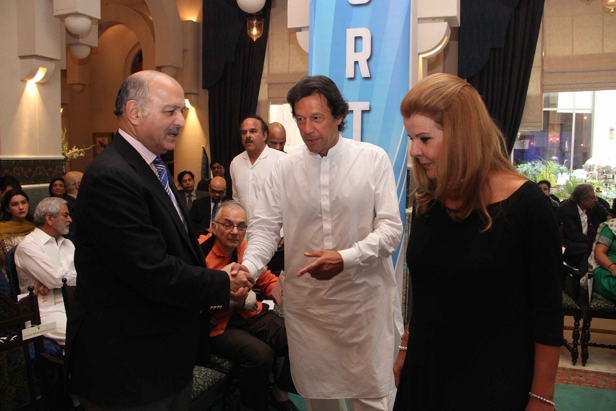 Welcoming the Guests at the launch event of KKAWF in Islamabad
