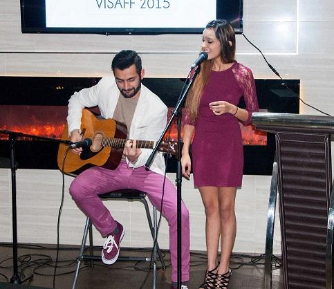 Daksh performing at VISAFF alongside Kirti Arneja