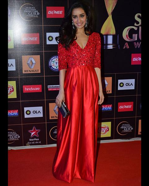 Shraddha Kapoor in red dress
