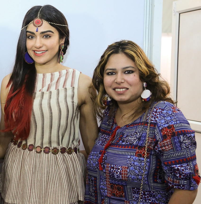 Adah Sharma with Nishtha Goel