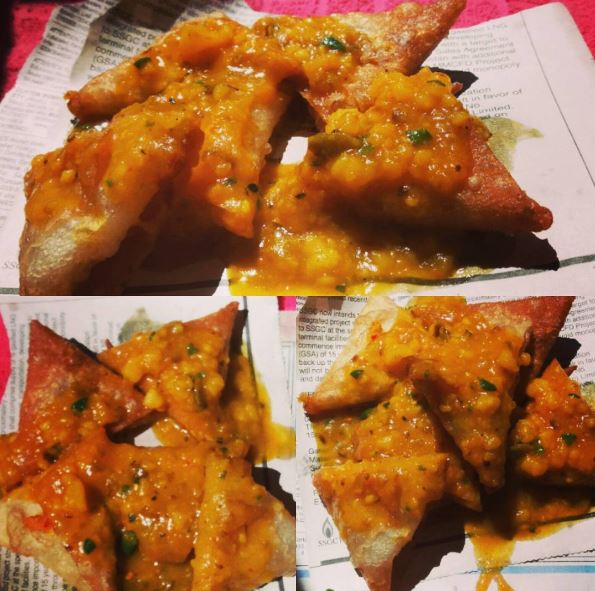 aaloo samosa one bite