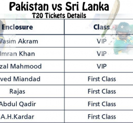 Pakistan vs Sri Lanka T20 Tickets Online Booking, Price & Ticket Centers List