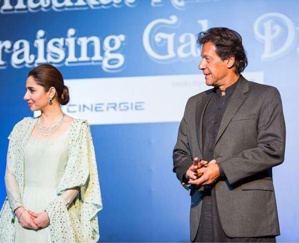 Mahira Khan and Imran Khan Shaukat Khanum 2