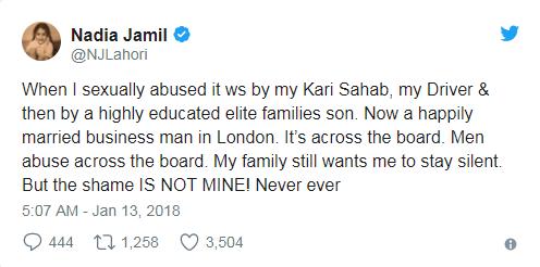 nadia jameel on sexual abuse Pakistan 2